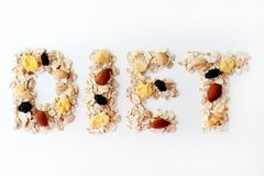 Conceptual image of the theme of diet. stock images
