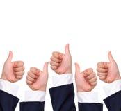 Conceptual image, Thumb up hand sign Stock Image