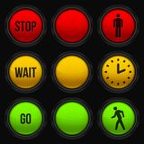 Traffic Lights. Conceptual image: Traffic Lights Design stock illustration