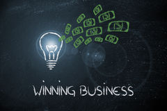 Conceptual image of a winning profitable idea Royalty Free Stock Images