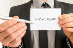 Conceptual image with the word Knowledge Stock Images