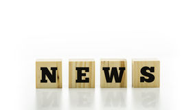 Conceptual image with the word News Royalty Free Stock Images