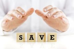 Conceptual image with the word Save Royalty Free Stock Photography