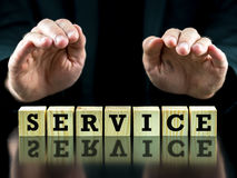 Conceptual image with the word Service Stock Images