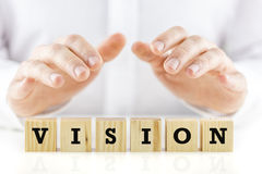 Conceptual image with the word Vision Stock Image