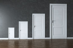 Conceptual Interior Picture - Rage Of Doors Stock Photos