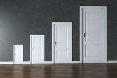 Conceptual Interior Picture - Rage Of Doors Stock Photos