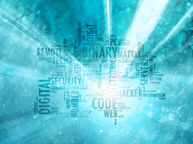 Conceptual internet or web binary code background Stock Image