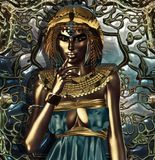 Metallic Queen. A conceptual interpretation of an exorbitantly attired ancient Egyptian queen who had an extensive knowledge about metals. Metallic Queen- Her Royalty Free Stock Photography