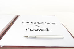 Conceptual Knowledge is Power on a Paper Royalty Free Stock Photos