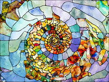 Conceptual Leaded Glass Royalty Free Stock Image