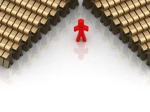 Conceptual leadership Stock Image