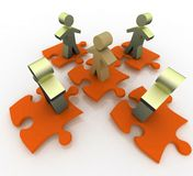 Conceptual leadership concept Stock Photos