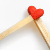 Conceptual Love from matches. On white background Royalty Free Stock Photo
