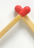 Conceptual Love from matches Stock Photography