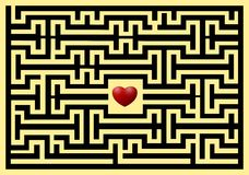Conceptual of love maze Royalty Free Stock Image