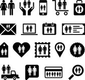 Conceptual Man&Woman icons Royalty Free Stock Photography