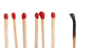 Conceptual matchstick Royalty Free Stock Photo