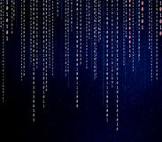 Conceptual matrix binary code Stock Images