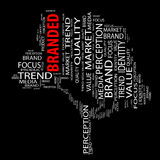 Conceptual media or business tree word cloud Stock Images