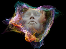 Conceptual Mind Particle Royalty Free Stock Image