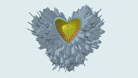 Conceptual Miniature City Globe In Shape Of Heart Animation stock footage