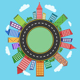 Conceptual modern and colorful cityscape Stock Photo