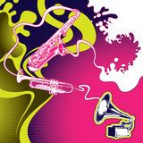 Conceptual music banner. Stock Photo