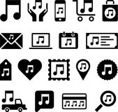 Conceptual Music Note icons Royalty Free Stock Photos