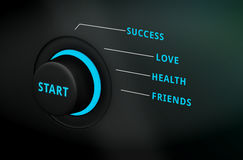Conceptual new start on life dial Stock Image