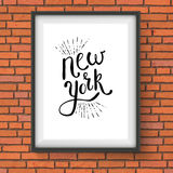 Conceptual New York Texts on a White Frame Royalty Free Stock Photo