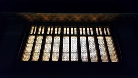 Conceptual night photography of some lights of Lausanne railway station in Switzerland. 
