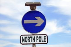 Conceptual North Pole sign Stock Image