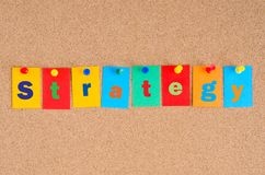 Conceptual Notice Board about Strategy Royalty Free Stock Images