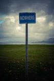 Conceptual Nowhere Sign Royalty Free Stock Photos