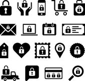 Conceptual Padlock icons Royalty Free Stock Photos