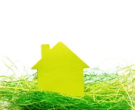 Conceptual paper house Royalty Free Stock Image