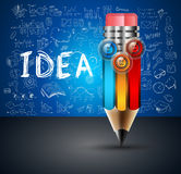 Conceptual PENCIL infographic backgroud with 3 options Stock Photos