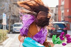 Free Conceptual Photo About Windy Weather. The Wind Blows The Girl`s Hair. Royalty Free Stock Image - 139267606