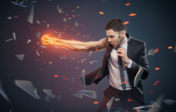 Conceptual photo of an ambitious businessman Stock Photography