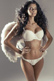 Conceptual photo of attractive woman angel Royalty Free Stock Images