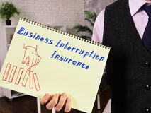 Conceptual photo about Business Interruption Insurance with handwritten text