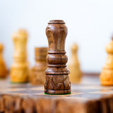 Conceptual photo of chess king standing Stock Photo