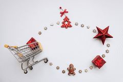 Conceptual photo of Christmas sales or gift shopping. royalty free stock images