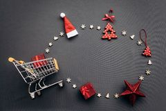 Conceptual photo of Christmas sales or gift shopping. royalty free stock photography