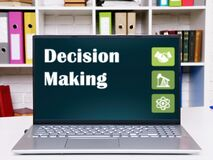 Conceptual photo about Decision Making with written phrase