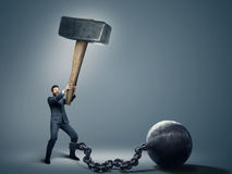 Conceptual photo of an employee trying to quit a job Royalty Free Stock Images