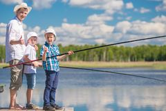 Conceptual photo - fishing is your favorite hobby stock image