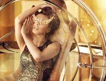 Conceptual photo of glamorous woman royalty free stock photos