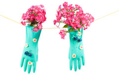 Conceptual photo with gloves Stock Image